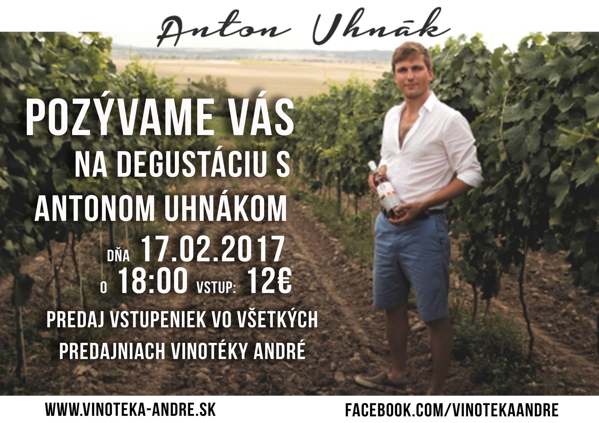 Degustácia vín s Antonom Uhnákom