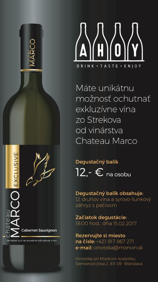 Degustácia vín vinárstva Chateau Marco