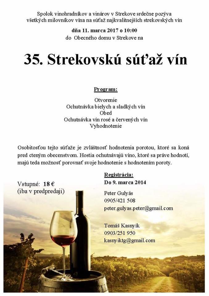 35. Strekovská súťaž vín
