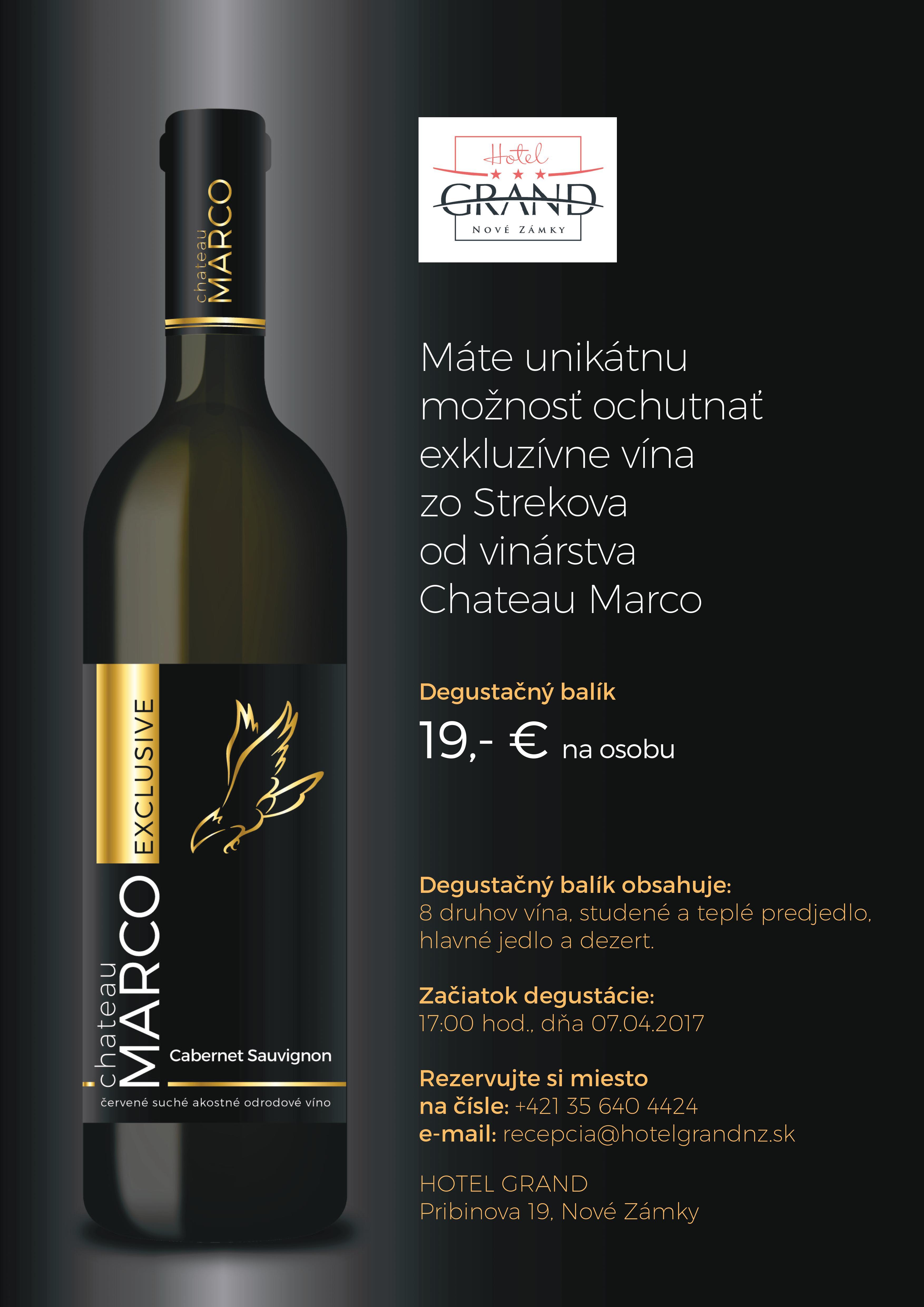 Vínny večer rodinného vinárstva Chateau Marco