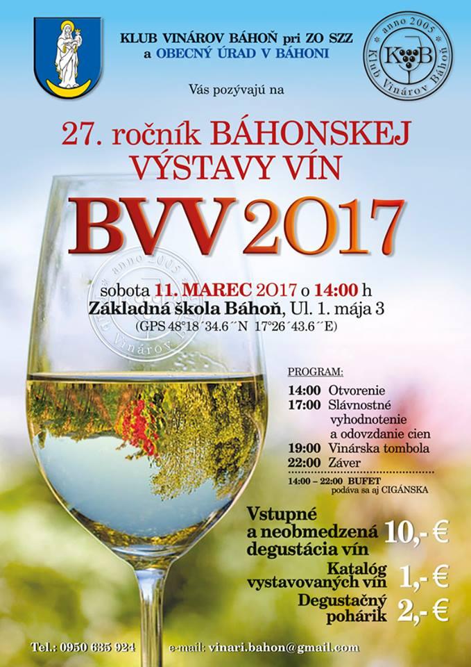 Báhonská výstava vín 2017