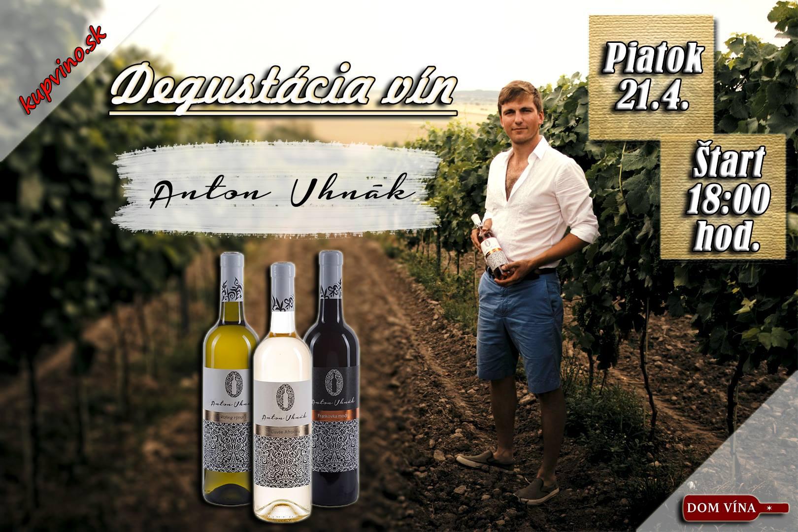 Degustácia vín Anton Uhnák v Dome vína Žilina