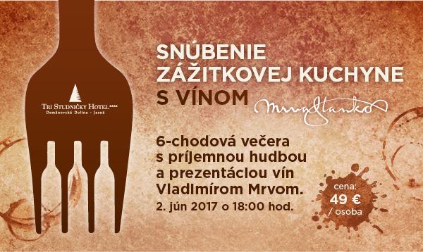 Snúbenie zážitkovej kuchyne s vínom
