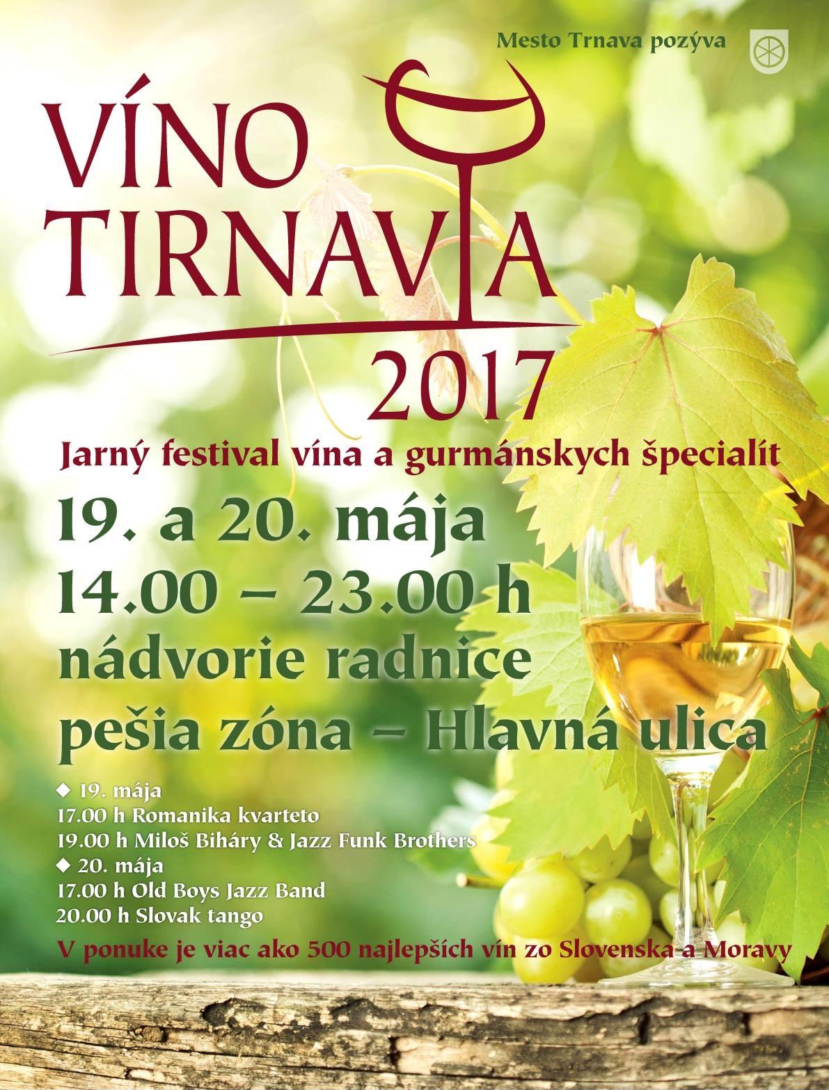 Jarný festival vín Víno Tirnavia 2017