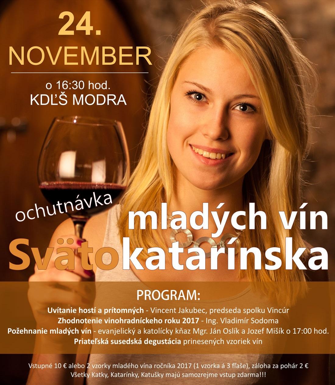 Svätokatarínska ochutnávka mladých vín 2017
