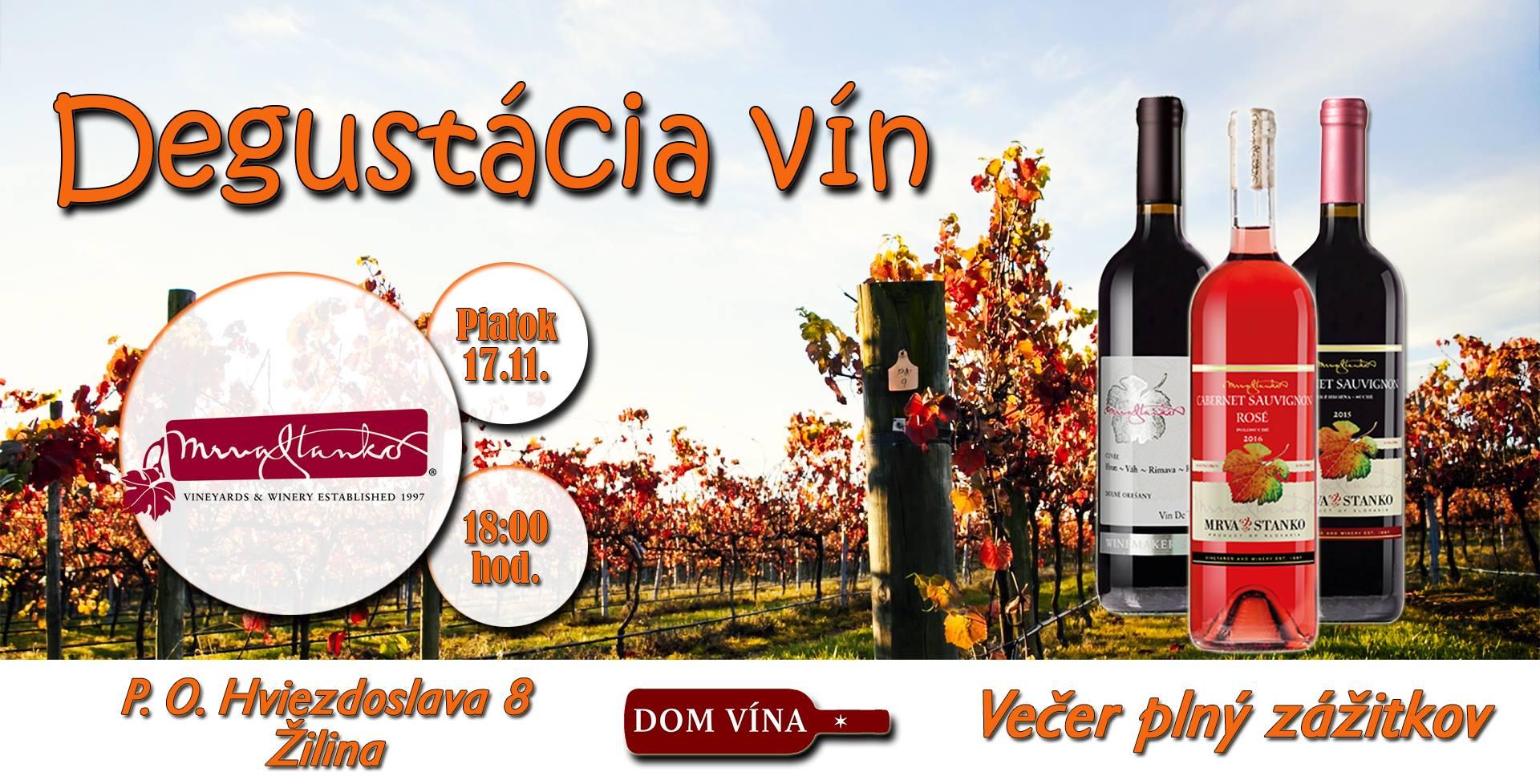 Degustácia vín Mrva & Stanko