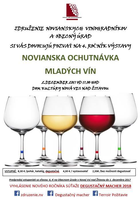 Novianska ochutnávka mladých vín 2017