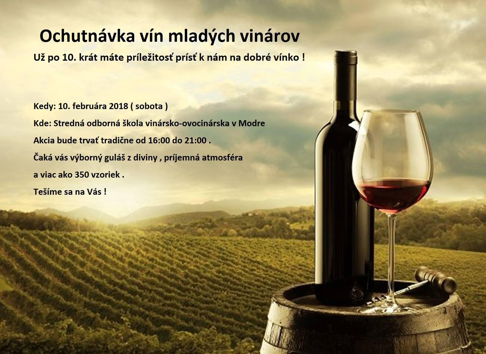 10. ročník ochutnávky mladých vinárov