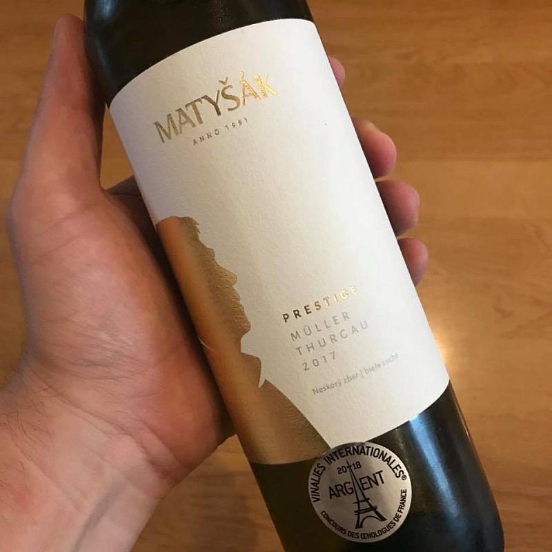 Müller Thurgau, neskorý zber, ročník 2017 od vinárstva Matyšák.