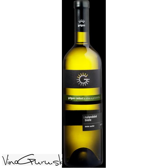 Rulandské biele, výber z hrozna, ročník 2017 od vinárstva Golguz.