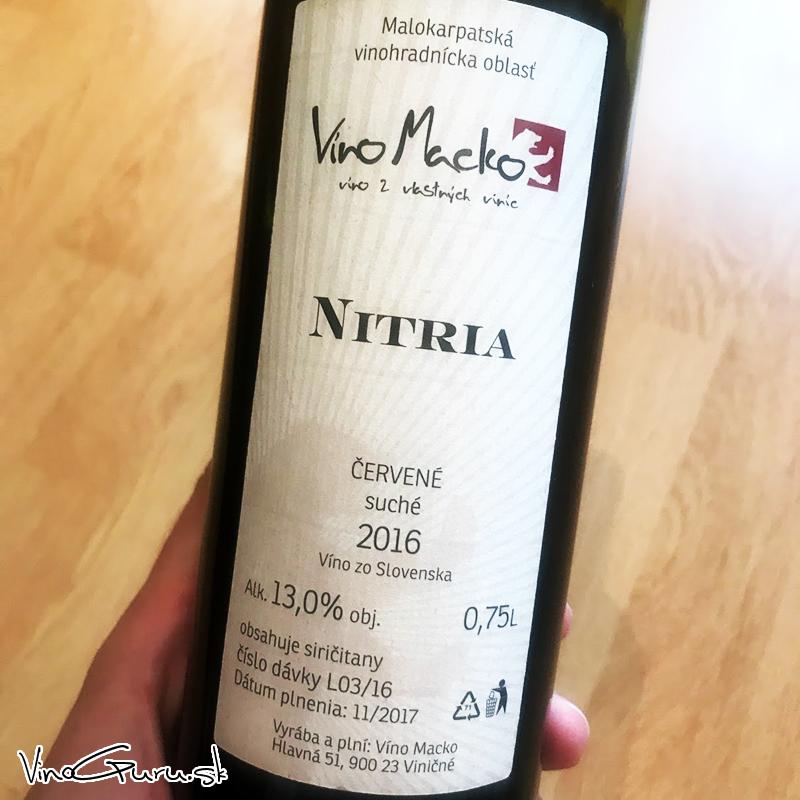 Nitria, ročník 2016 od Víno Macko.