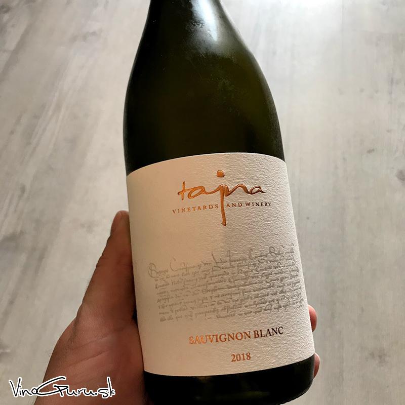 Sauvignon blanc, ročník 2018 od vinárstva Tajna Winery.