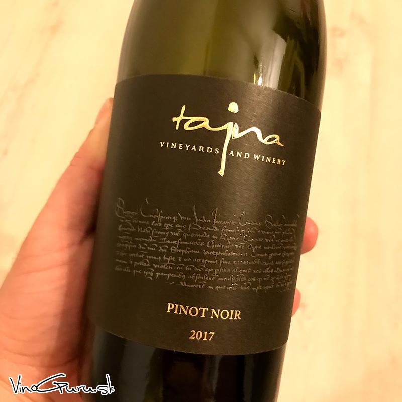 Pinot Noir, ročník 2017 od Tajna Winery.